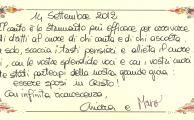 I ringraziamenti di Marco e Chiara (Tadini)